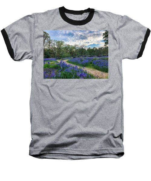 Pathway Through The Flowers Baseball T-Shirt