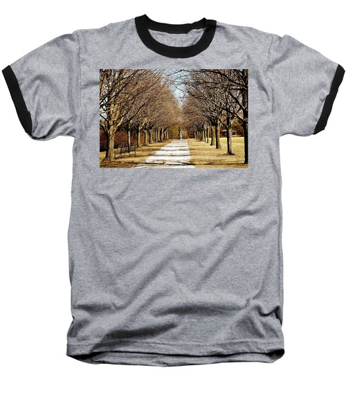 Pathway Through Trees Baseball T-Shirt