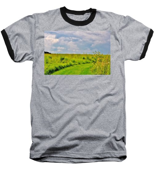 Pathway Through Wildflowers Baseball T-Shirt