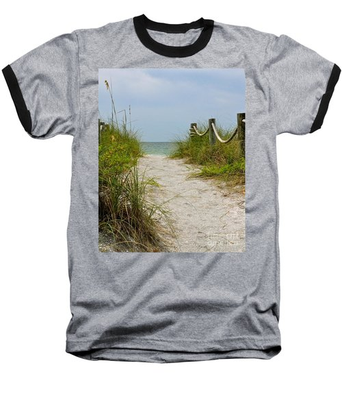 Baseball T-Shirt featuring the photograph Pathway To The Beach by Carol  Bradley