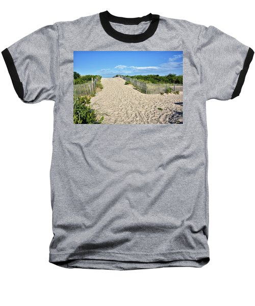 Baseball T-Shirt featuring the photograph Pathway To The Beach - Delaware by Brendan Reals
