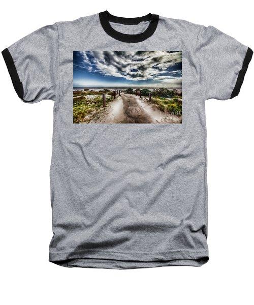Pathway To The Beach Baseball T-Shirt by Douglas Barnard