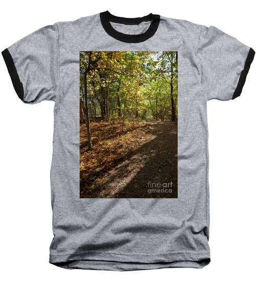 Baseball T-Shirt featuring the photograph Pathways In Fall by Iris Greenwell
