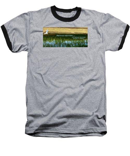 Patience  Baseball T-Shirt by David Norman
