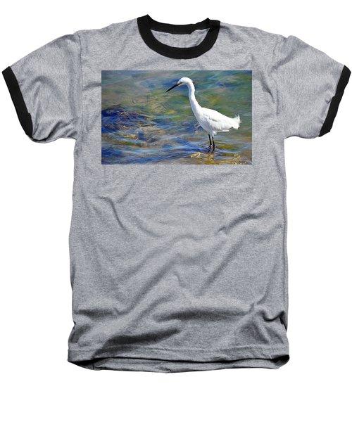 Patient Egret Baseball T-Shirt