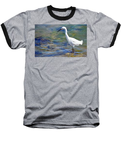 Patient Egret Baseball T-Shirt