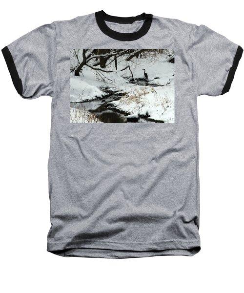 Baseball T-Shirt featuring the photograph Patiently Waiting 2 by Paula Guttilla