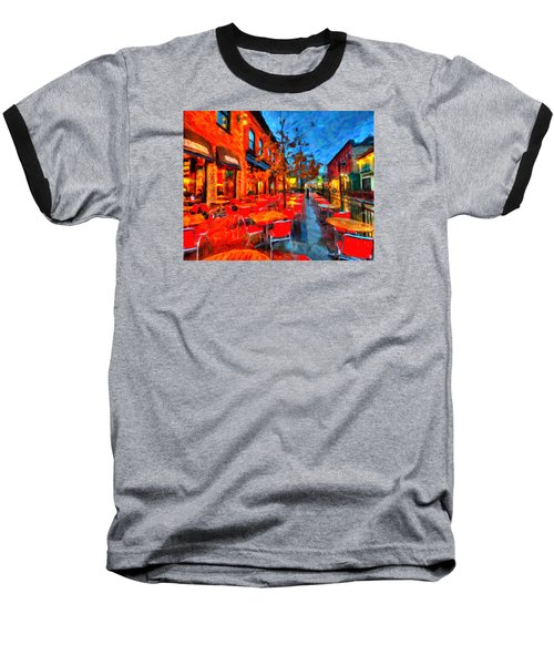 Patio Baseball T-Shirt by Andre Faubert