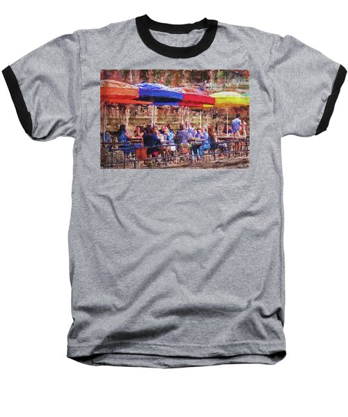 Patio At The Riverwalk Baseball T-Shirt
