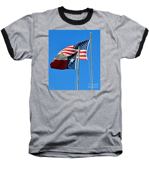 Patriot Proud Texan  Baseball T-Shirt