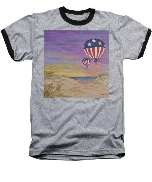 Patriotic Balloons Baseball T-Shirt