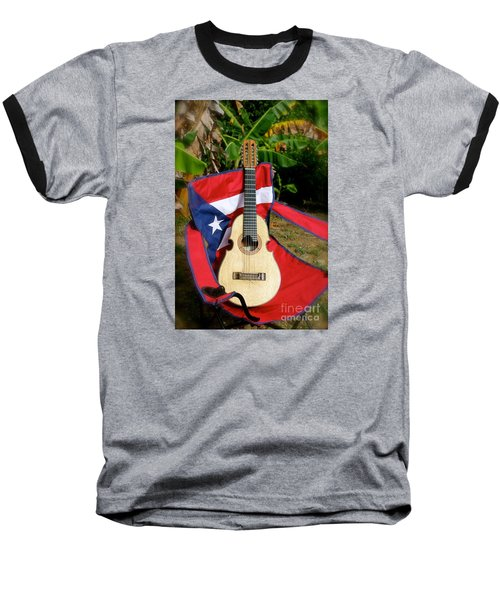 Patriotic Cuatro Baseball T-Shirt by The Art of Alice Terrill