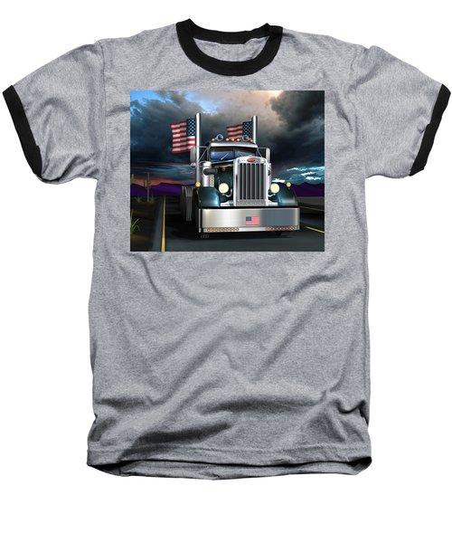 Patriotic Pete Baseball T-Shirt by Stuart Swartz