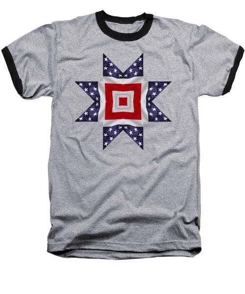 Patriotic Star 1 - Transparent Background Baseball T-Shirt