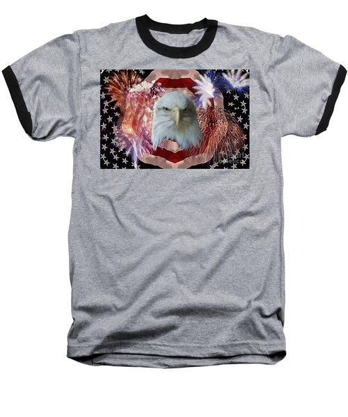 Patriotic Tribute Baseball T-Shirt