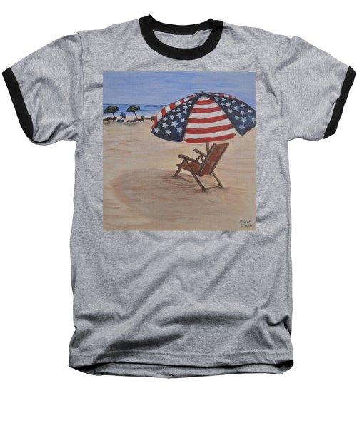 Patriotic Umbrella Baseball T-Shirt