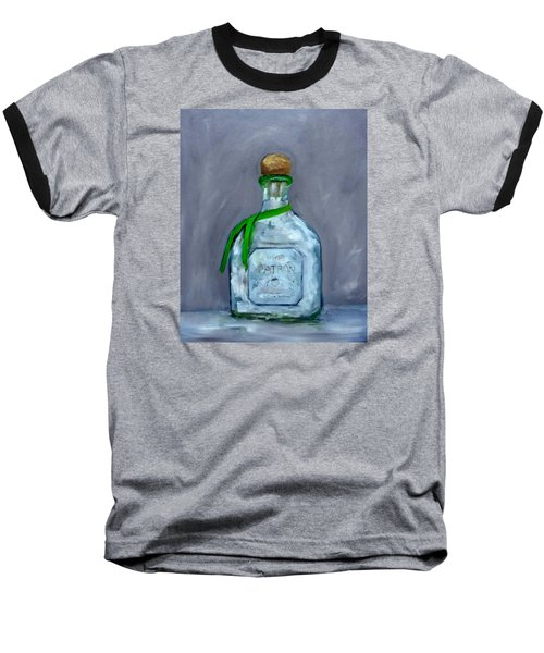 Patron Silver Tequila Bottle Man Cave  Baseball T-Shirt