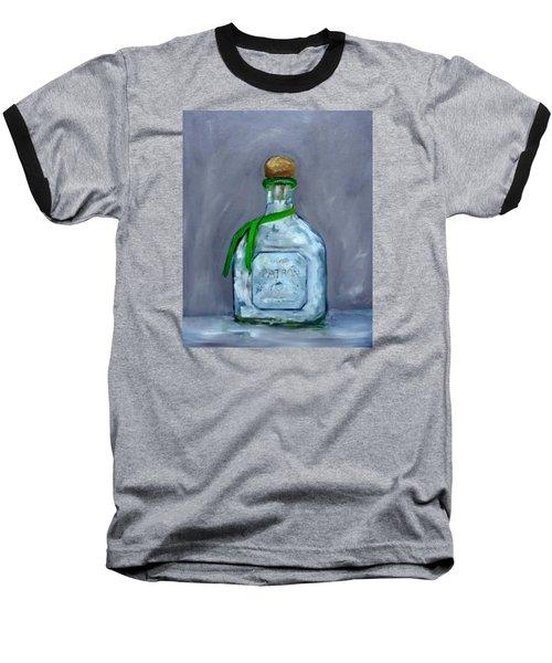 Patron Silver Tequila Bottle Man Cave  Baseball T-Shirt