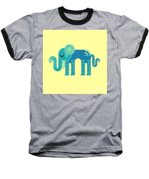 Pattern Elephant Baseball T-Shirt