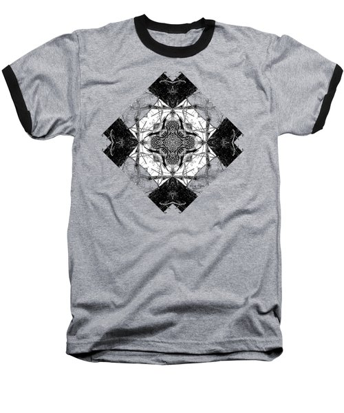 Pattern In Black White Baseball T-Shirt