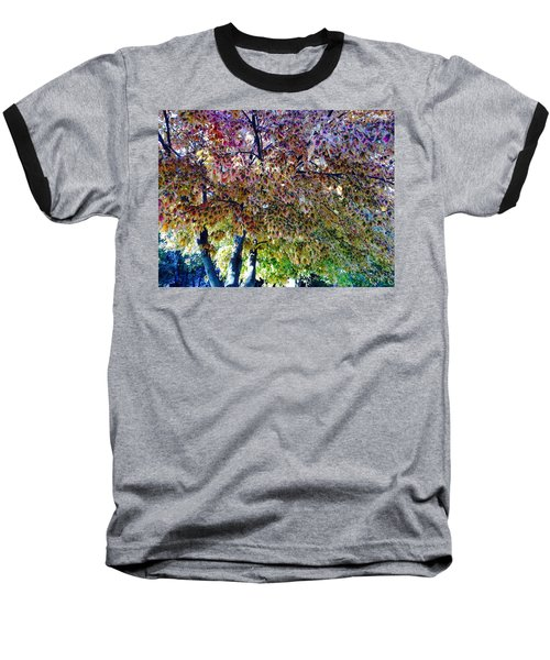 Patterned Metamorphosis Baseball T-Shirt