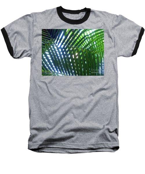 Patterned Palms Baseball T-Shirt