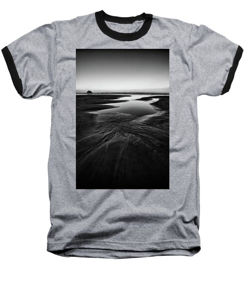 Baseball T-Shirt featuring the photograph Patterns In The Sand by Jon Glaser