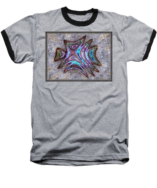 Paua Medallion Baseball T-Shirt