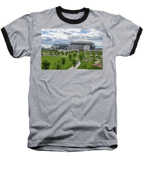 Paul Brown Stadium Color Baseball T-Shirt by Scott Meyer