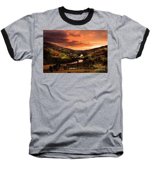 Paute River II Baseball T-Shirt by Al Bourassa