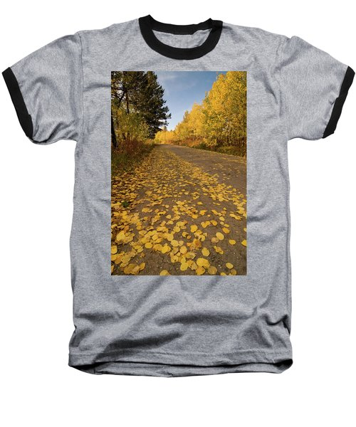 Baseball T-Shirt featuring the photograph Paved In Gold by Steve Stuller