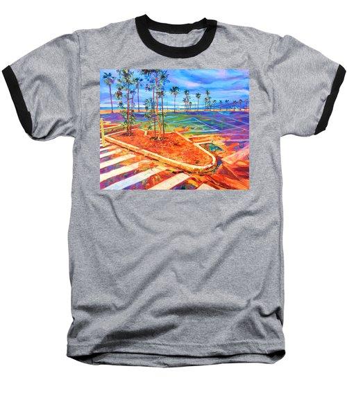 Paved Paradise Baseball T-Shirt by Bonnie Lambert