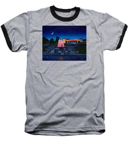 Pavilion Fountains Baseball T-Shirt by Michael Frank
