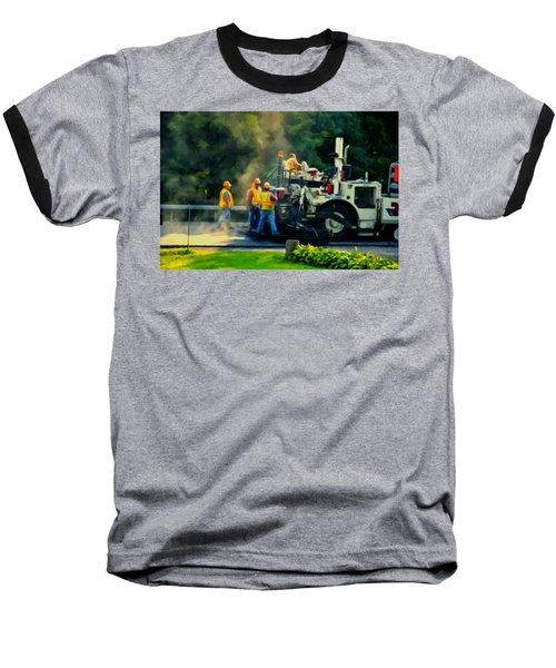 Paving Crew Baseball T-Shirt