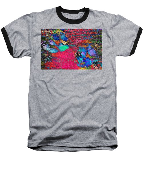 Paw Prints Colour Explosion Baseball T-Shirt