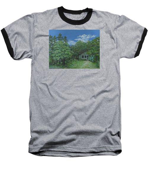Baseball T-Shirt featuring the painting Pawleys Island Blue by Kathleen McDermott