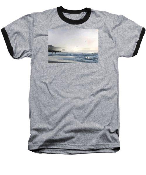 Baseball T-Shirt featuring the digital art Pawleys Island Morning Mist by Deborah Smith