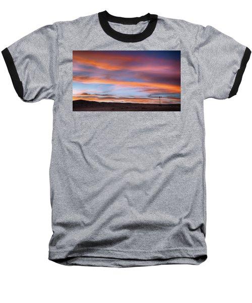 Pawnee Sunset Baseball T-Shirt by Monte Stevens
