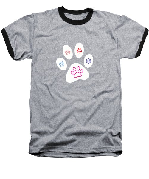Paws Baseball T-Shirt