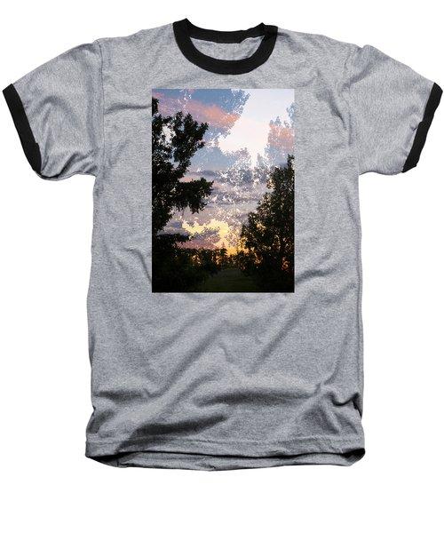 Paynotn Sunset Baseball T-Shirt by Ellery Russell