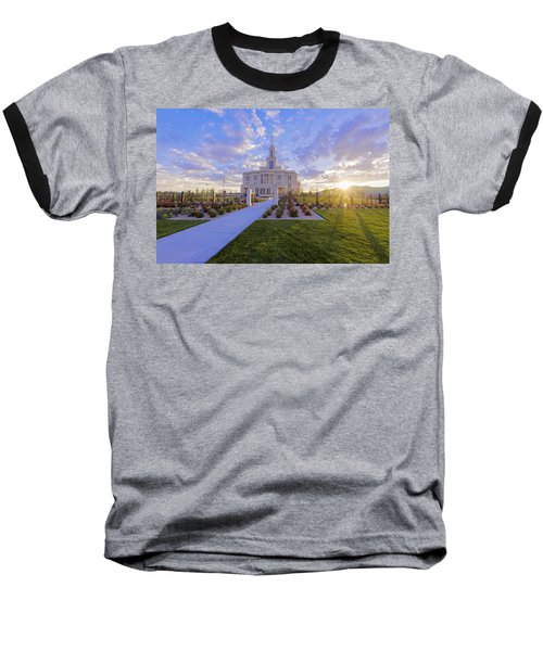 Baseball T-Shirt featuring the photograph Payson Temple I by Chad Dutson
