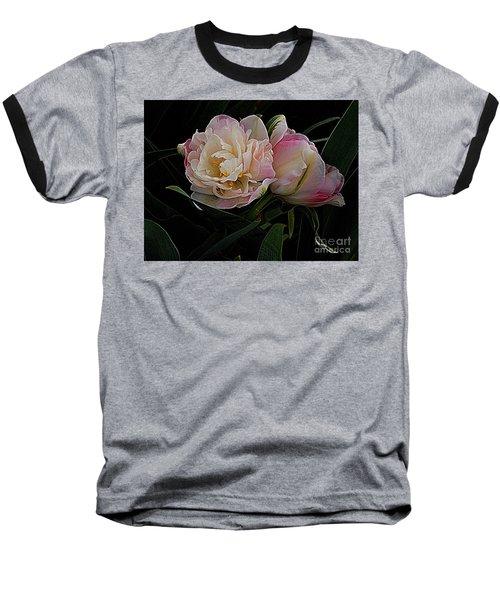 Baseball T-Shirt featuring the photograph Pe0ny Tulip Duet 2 by Nancy Kane Chapman