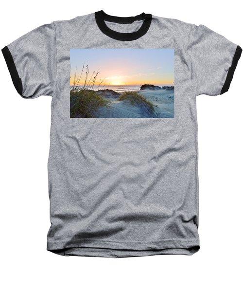 Pea Island Sunrise 12/28/16 Baseball T-Shirt