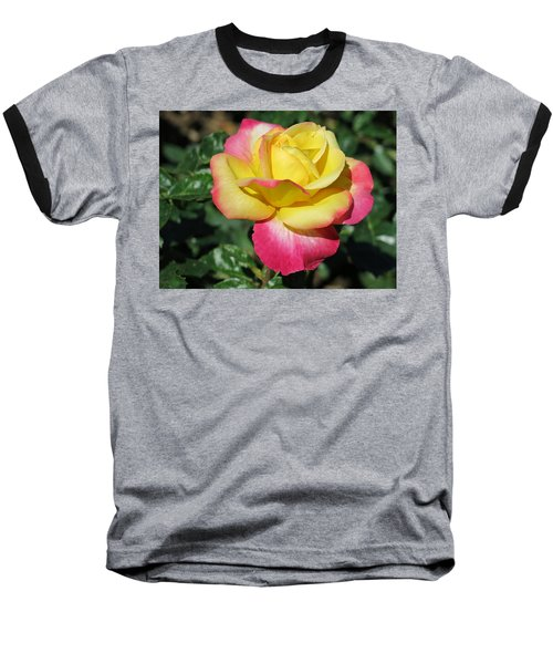 Peace And Love Rose Baseball T-Shirt by Betty Buller Whitehead