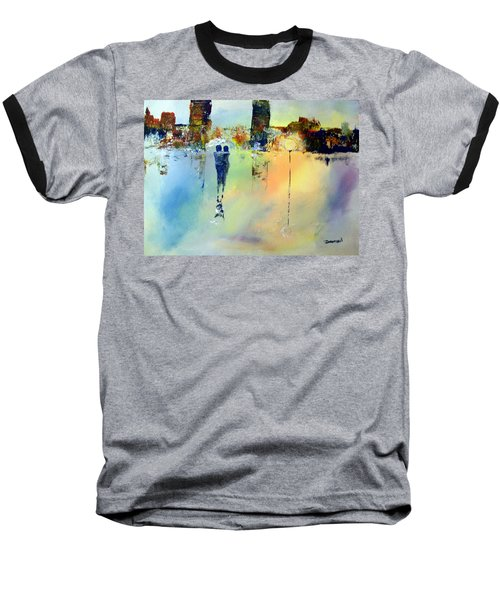 Baseball T-Shirt featuring the painting Peace At Twilight by Raymond Doward
