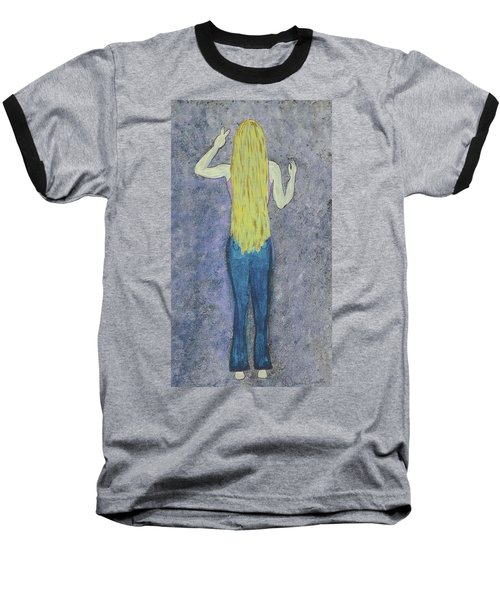 Baseball T-Shirt featuring the mixed media Peace by Desiree Paquette