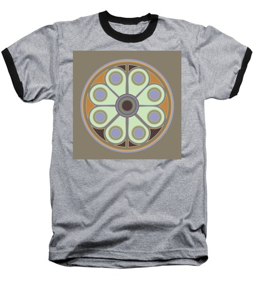 Peace Flower Circle Baseball T-Shirt