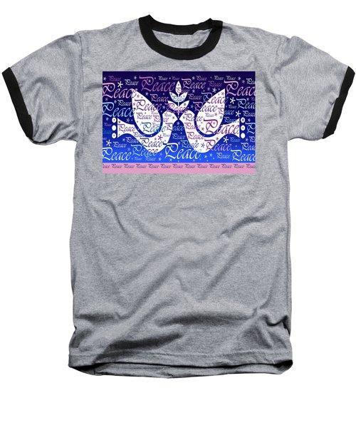 Peace Holiday Card Baseball T-Shirt
