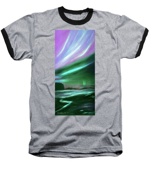 Peace Is Colorful 2 - Vertical Painting Baseball T-Shirt