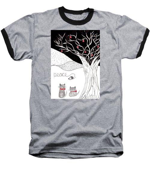 Peace Baseball T-Shirt by Lou Belcher